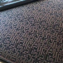Copper Color Etching  Decoration Stainless Steel Sheets