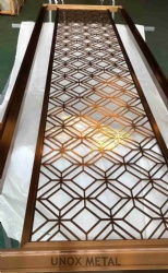 Golden Color Stainless Steel Decorative Screen Panel